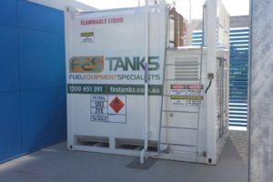12,000 litre fuel storage tank installation. Thrifty Rentals, Brisbane Airport