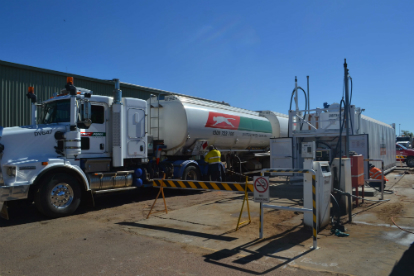self bunded tank and puma energy refuelling truck
