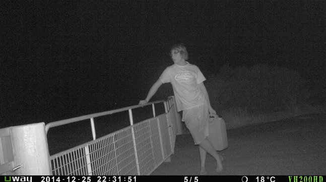 fuel theft still image at night