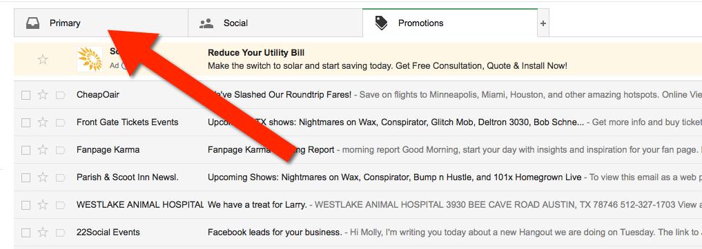 eamil whitelisting gmail