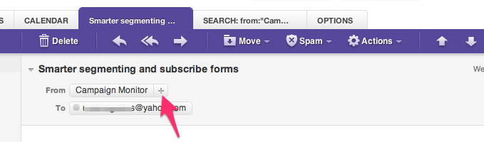 eamil whitlisting yahoo mail