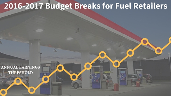 2016-2017 budget for fuel retailing graphic