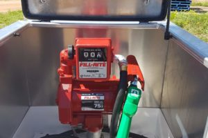 Pump box on top of 10000l farm tank - fillrite 230V AC pump with 800C Series meter