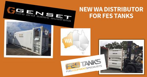 Genset Hire and Sales Australia (GHASA) self bunded tank distrubutor in perth, western australia