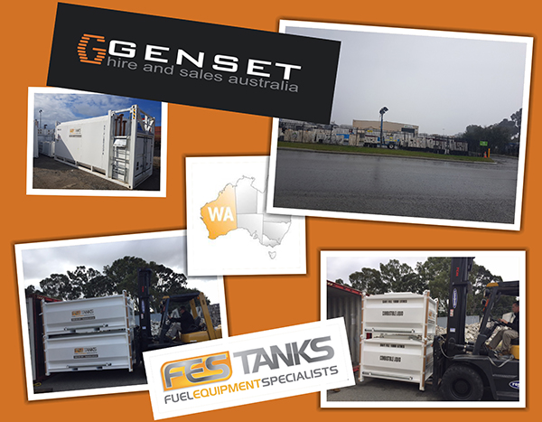 Genset Hire and Sales Australia (GHASA) self bunded tank distrubutor in perth, western australia