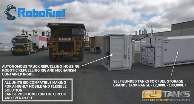 Autonomous Truck Refuelling set-up