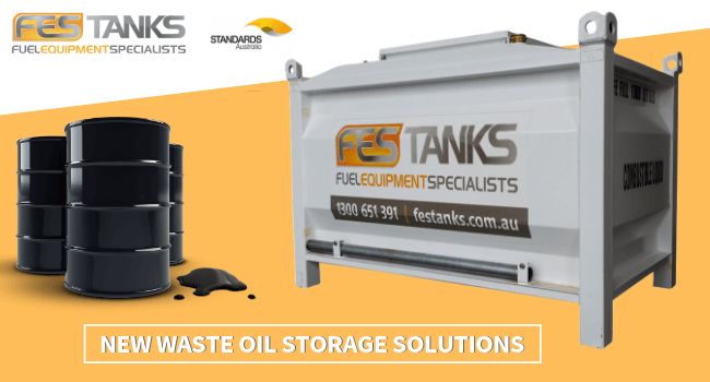 waste oil storage tanks