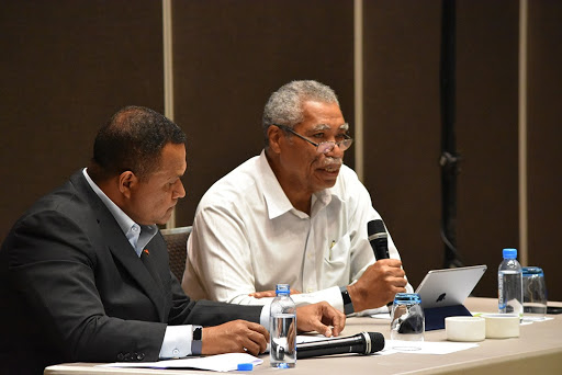 Papua New Guinea Chamber of Mines and Petroleum president Gerea Aopi at the June conference.