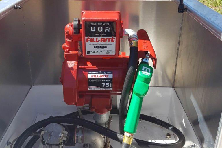 pump 10000 litre self bunded tank