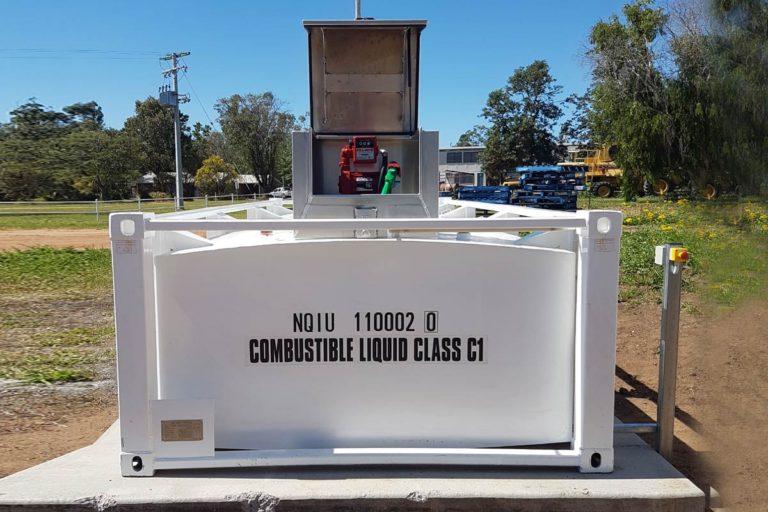 side of 10000 litre self bunded tank