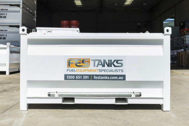 front of 2500 litre self bunded tank