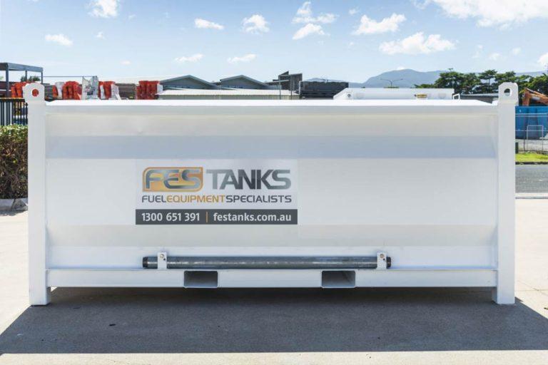 back of 4500 litre self bunded tank