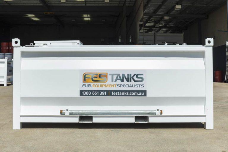 front of 4500 litre self bunded tank