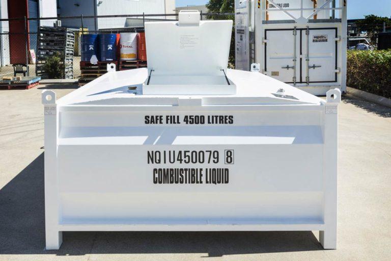 side of 4500 litre self bunded tank