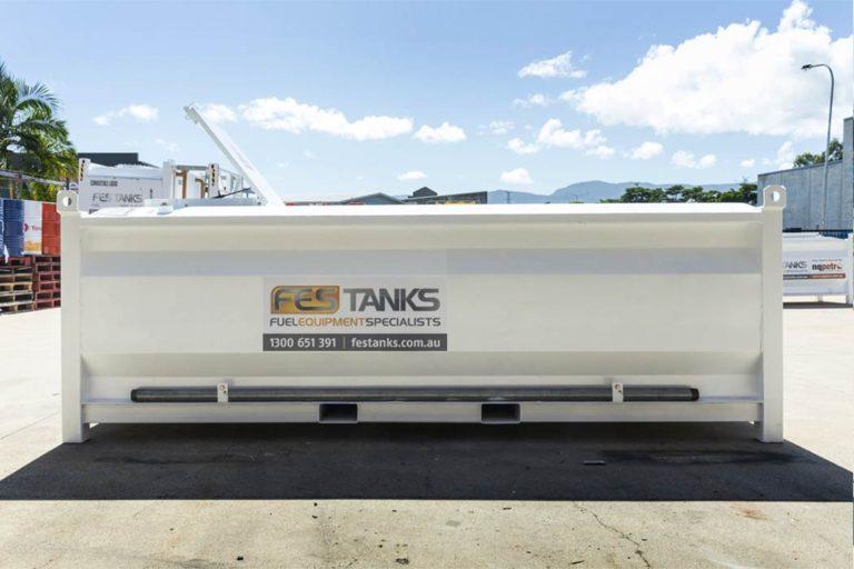 back of 6000 litre self bunded tank