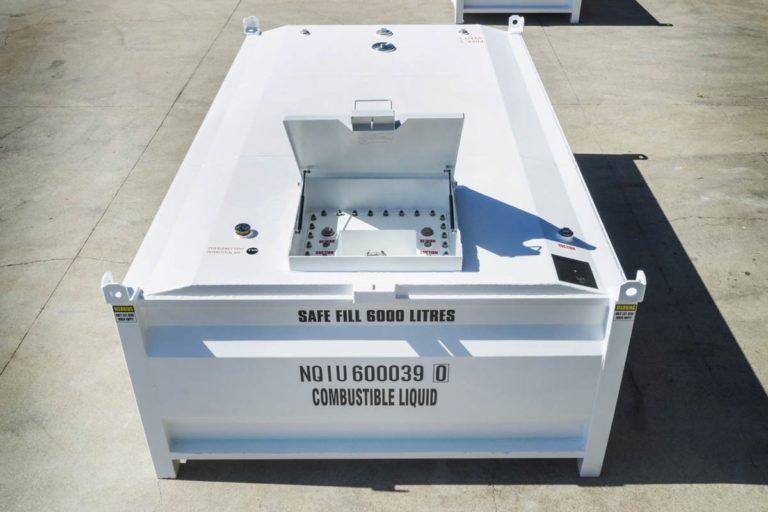 manway photo of 6000 litre self bunded tank