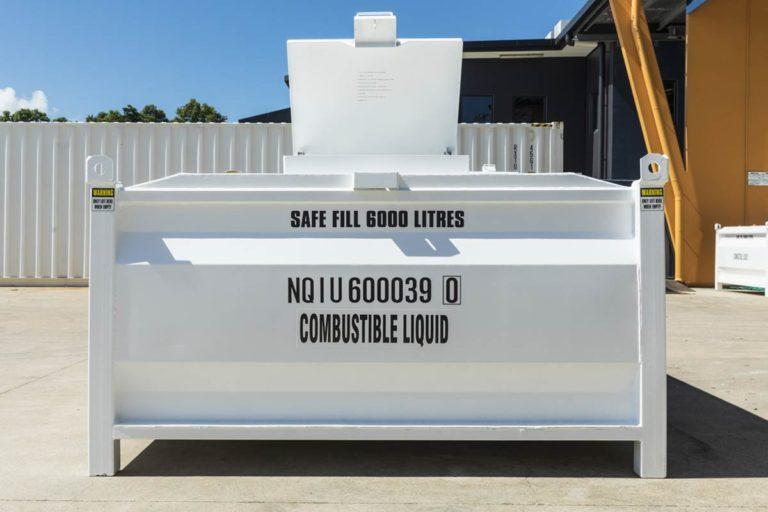 side of 6000 litre self bunded tank