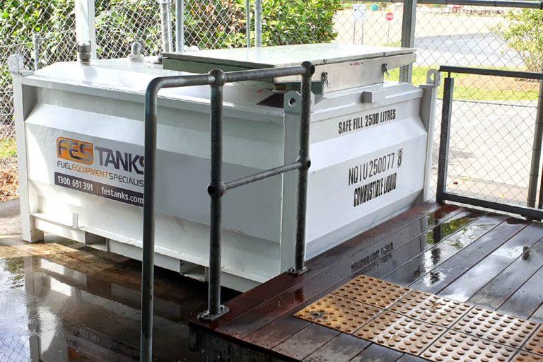 waste oil storage tanks-side