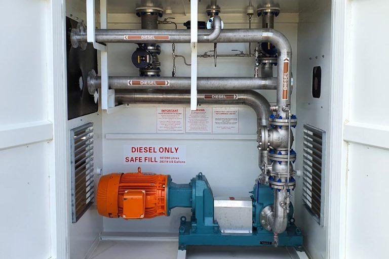 110000l-aboveground-self-bunded-fuel-storage tank-Pump bay 5